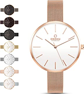 Womens Classic and Modern Dress Watch with Stainless...