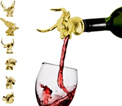 Classic Gold Bull Aerator – Premium Aerating Pourer with silicone rubber fitting. Double the value of your wine just by pouring yourself a glass. Cheers!