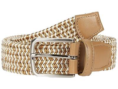 Torino Leather Co. 35mm Italian Woven Rayon Elastic (Camel) Men