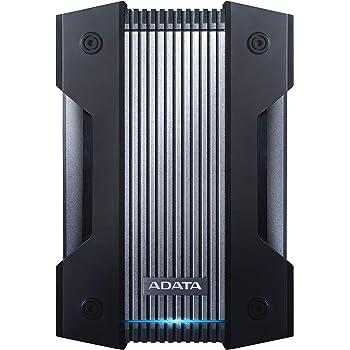 ADATA HD830 4TB Ruggedized IP68 Extra Strength USB3.1 Waterproof Dustproof Drop-Proof External Hard Drive Black (AHD830-4TU31-CBK)