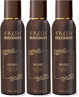 Fresh Essential Desire No Gas Deodrant - 150 ml (Pack of 3)