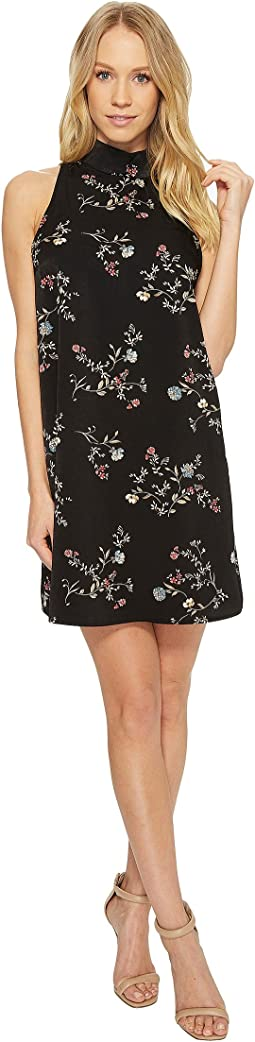 American Rose - Grace Sleeveless Mock Neck Floral Dress