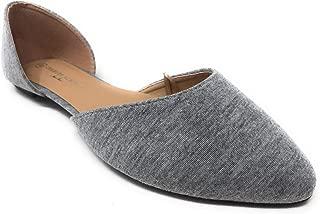 Women's D'Orsay Pointed-Toe Slip-On Ballet Flats