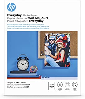 HP Everyday Photo Paper   Glossy   8.5x11   50 Sheets
