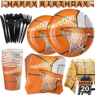 b6367d40662 177 Piece Basketball Party Supplies Set Including Banner