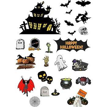 Th/ème Halloween Lot de 12/d/écorations de p/âtisserie comestibles pr/éd/écoup/ées horreur