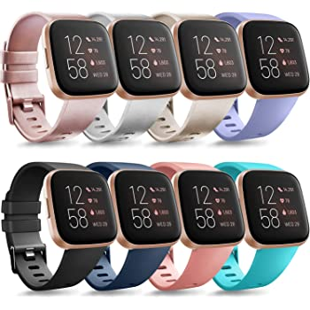 Tobfit Bands Compatible with Fitbit Versa 2 and Fitbit Versa/Versa Lite/Versa Special, Soft Replacement Sport Wristbands Accessories for Women Men