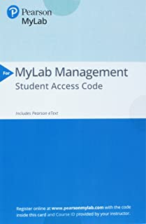 Mylab Management with Pearson Etext -- Access Card -- For Strategic Management and Competitive Advantage: Concepts and Cases