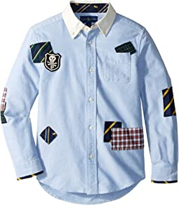 Patchwork Cotton Oxford Shirt (Little Kids/Big Kids)