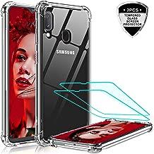 LeYi Cover per Samsung Galaxy A20e Custodia con Vetro Temperato [2 Pack], NUOVO Silicone Trasparente Hard PC Bumper TPU Protettiva Smartphone Case per Custodie Samsung Galaxy A20e Crystal Clear