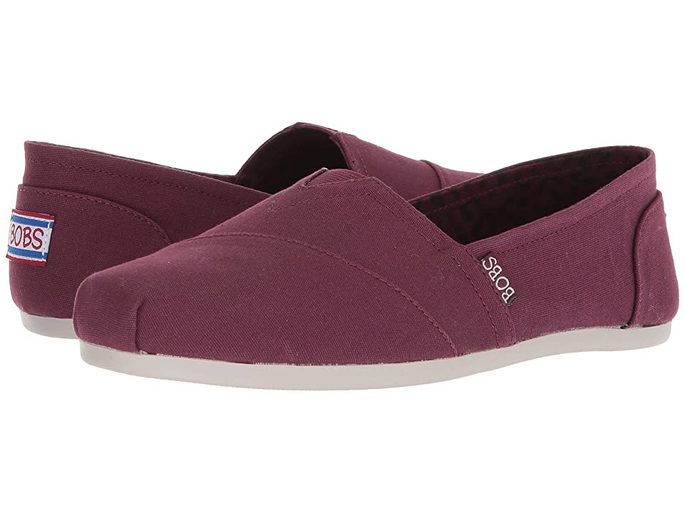 BOBS from SKECHERS Bobs Plush Peace and Love (Burgundy) Women