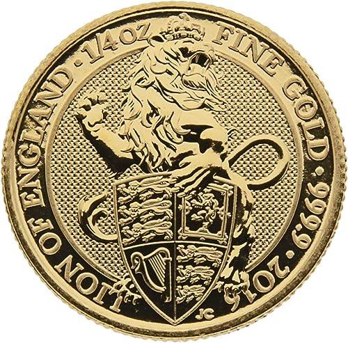 Royal Mint United Kingdom 1 4 oz England 2016 The Queens Beasts - Lion of England - 25 GBP 999,9 Goldmünze