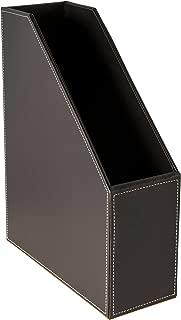 Osco Faux Leather Magazine Rack - Brown