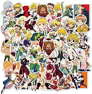 Water Bottle Anime Stickers The Seven Deadly Sins 50Pcs Variety Vinyl Waterproof Car Sticker Motorcycle Bicycle Decal Graf...