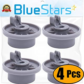 Ultra Durable 165314 Dishwasher Lower Rack Wheel Replacement Part by Blue Stars - Exact Fit for Bosch & Kenmore Dishwashers - Replaces 420198 423232 AP2802428 - PACK OF 4