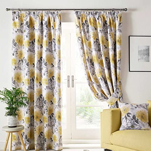 Grey And Yellow Curtains: Amazon.co.uk