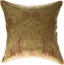 Avarada 16x16 inch (40x40 cm) India Elephant Decorative Throw Pillow Covers Case Cushion Cover for Sofa Couch Chair Bed In...