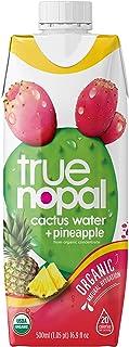 True Nopal Organic Cactus Water Plus Pineapple, 16.9 Fl Ounce (Pack of 12)