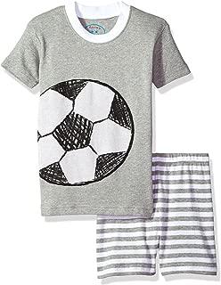 Sara's Prints Kids' All Cotton Fitted Short Pajama Set