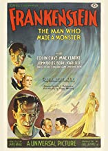 Frankenstein (1931 film) the man who made a monster Movie Poster Reprint - Vintage Theater Advertisement (17