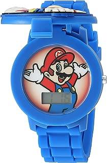 Nintendo GMA3015 - Reloj de cuarzo (plástico y silicona), color azul
