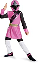Power Rangers Ninja Steel Deluxe Costume, Pink, Large (10-12)