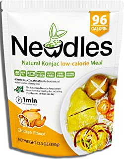 Newdles (New Generation) Konjac/Shirataki Low-Calorie Meal (Chicken Flavor) Easy to prepare, No boiling, Low Carb, Low Calories, High water-soluble dietary fiber, Good taste