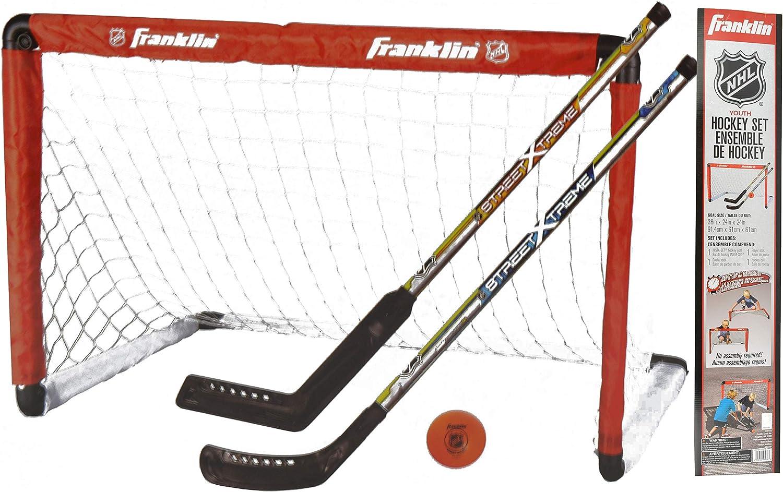 Franklin NHL Youth Hockey with Net, Goalie Stick and Regular Stick
