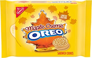 Oreo Golden Sandwich Cookies, Limited Edition Maple Flavor Creme, 1 Resealable Pack (12.2 oz)
