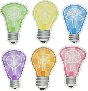Carson Dellosa – Light Bulbs Colorful Cut-Outs, Classroom Décor, 51 Pieces