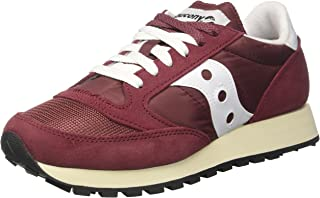 Saucony Womens Jazz Original Vintage S60368-27 Burgundy White Suede Trainers 9 US