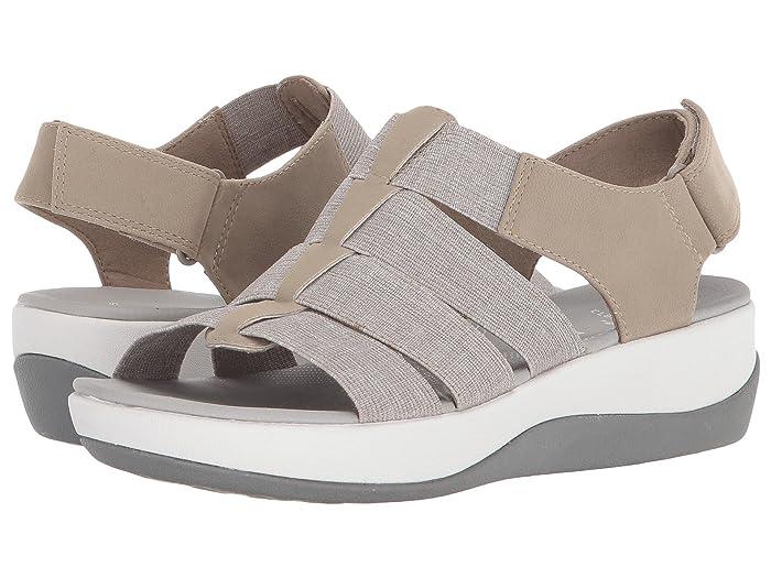 Clarks  Arla Shaylie (Sand/White Heathered Elastic) Womens Sandals