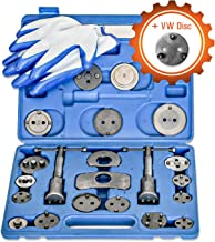 Grit Performance [24 Piece Heavy Duty Disc Brake Caliper Tool Set and Wind Back Kit for Brake Pad Replacement | Fits Most American, European, Japanese Makes/Models