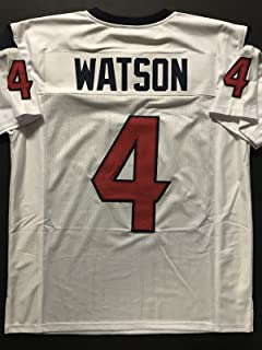 Unsigned Deshaun Watson Houston White Custom Stitched Football Jersey Size XL New No Brands/Logos