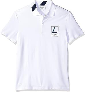 23d1d5d1 Lacoste Men's Short Sleeve Slim Fit Heritage Graphic Polo