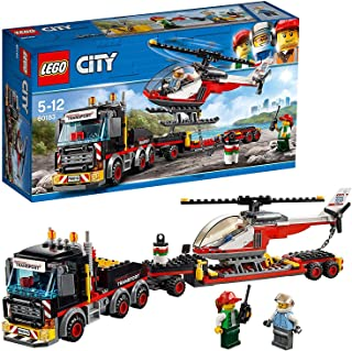 LEGO City Great Vehicles Heavy Cargo Transport Playset, Toy Truck & Helicopter, Construction Set for Kids