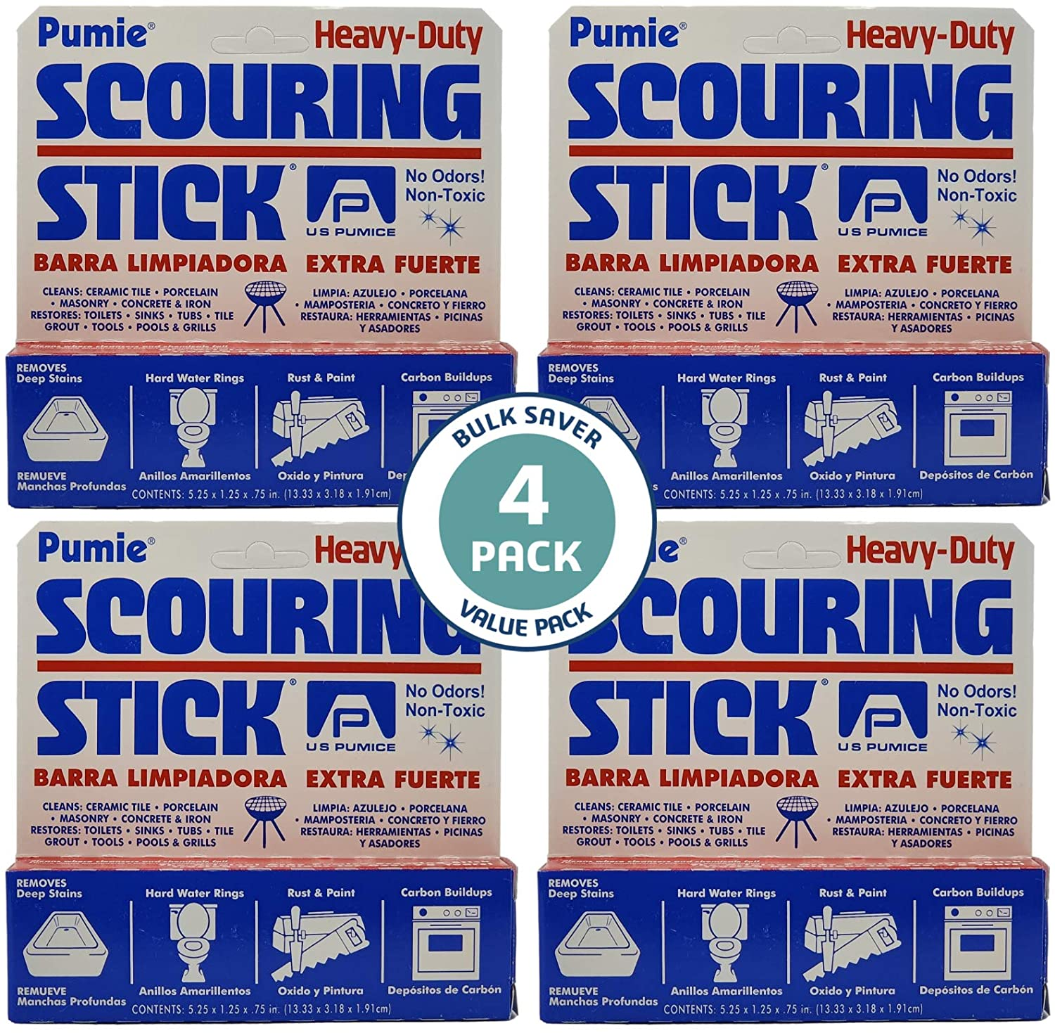 U. Max 68% OFF Dallas Mall S. Pumice HDW-12 Pumie Scouring by Stick United 4 Stat pack