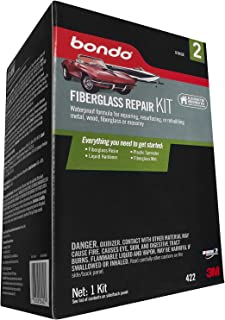 Bondo Fiberglass Repair Kit, Stage 2, For Repairing, Resurfacing, or Rebuilding Metal, Wood, Fiberglass or Masonry