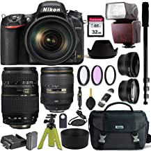 $1999 » Nikon D750 DSLR Camera with AF-S NIKKOR 24-120mm f/4G ED VR and Tamron AF 70-300mm f/4-5.6 Di LD Macro Lens for Nikon DSLR + Nikon Gadget Bag & Accessory Bundle