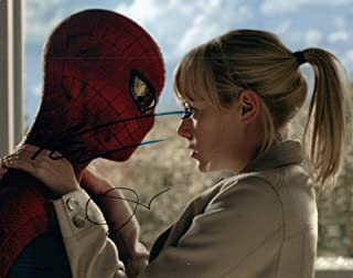 Emma Stone & Andrew Garfield Signed Autograph 8x10 Photo Spider-Man COA VD