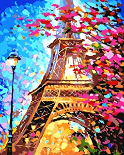 Inrali DIY Oil Painting,Paint by Number Kit for Kids Adults Students Beginner DIY Canvas Painting by Numbers Acrylic Oil P...
