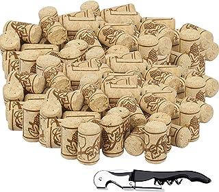 BELIOF 100 Pcs Bouchons de Liège à Vin avec 1 pcs Décapsuleur Bouchon sans Chimique pour Conservation Alcool Accessoire po...