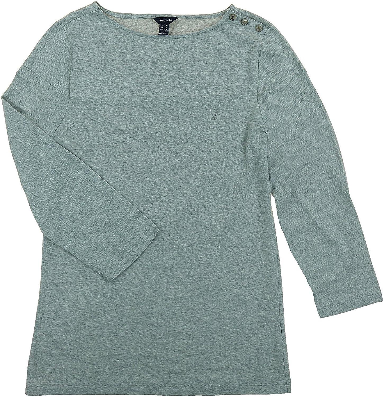 Nautica Women's 3 4 Sleeve Knit Top
