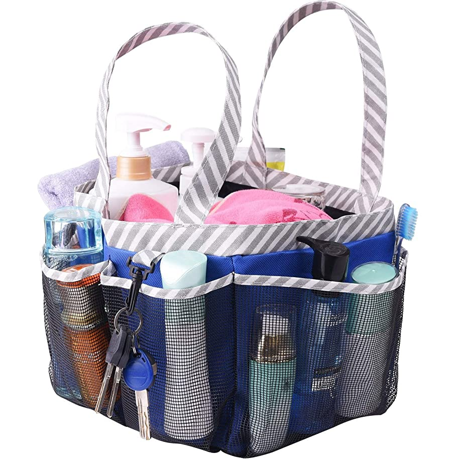 Haundry Mesh Shower Caddy Tote, Large Dorm College Bathroom Tote Bag Portable for Camp Gym