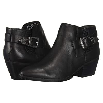 Steve Madden Cassie Western Bootie (Black Leather) Women