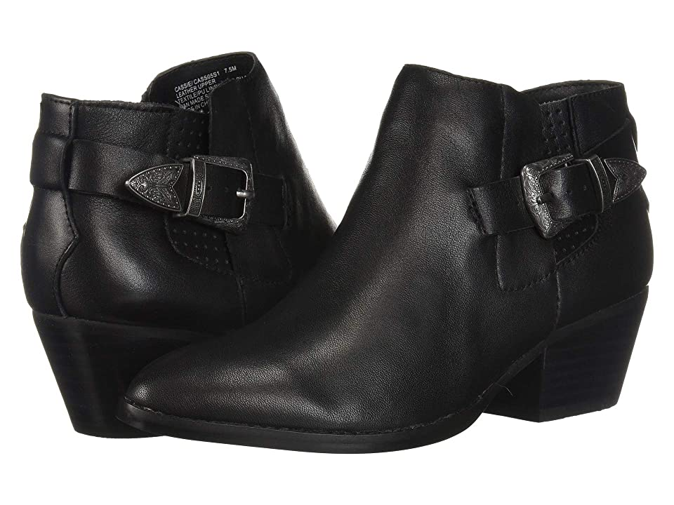 Steve Madden Cassie Western Bootie (Black Leather) Women