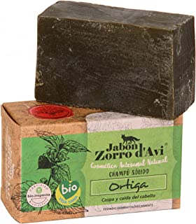 Jabón Zorro D'Avi | Champú Sólido de Ortiga | 120 gr | Cabellos con Caspa | Champú Sólido Zero Waste | Evita la Caída del ...