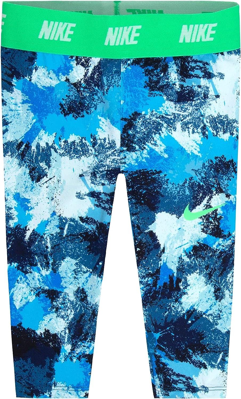 Nike Girl's Dri-Fit Leggings (6X, Still Blue)