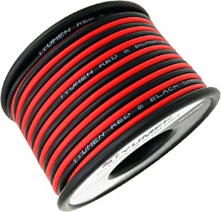 TYUMEN 40FT 18 Gauge 2pin 2 Color Red Black Cable Hookup Electrical Wire LED Strips Extension