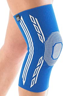 Neo G Knee Support - For Arthritis, Joint Pain, Sprains, Strains, Knee Injury, Recovery, Rehab, Sports, Running - Multi Zone Compression Sleeve - Airflow Plus - Class 1 Medical Device - Medium - Blue